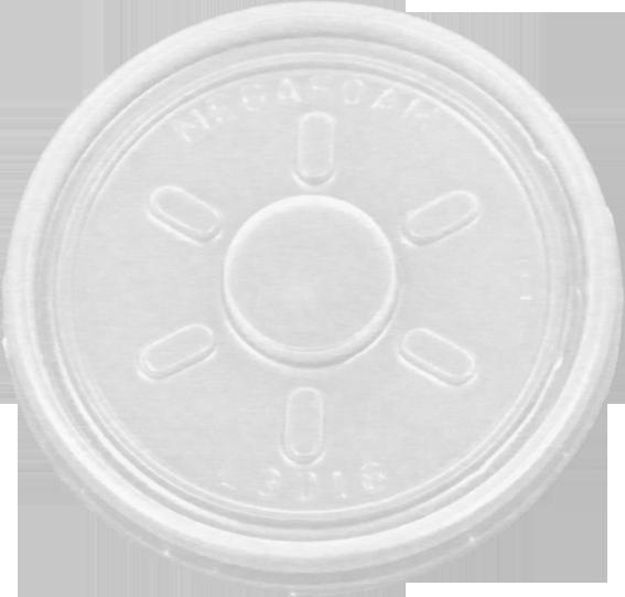 HIPS 4FL-3016-4 oz Foam Cup Flat Lid Image