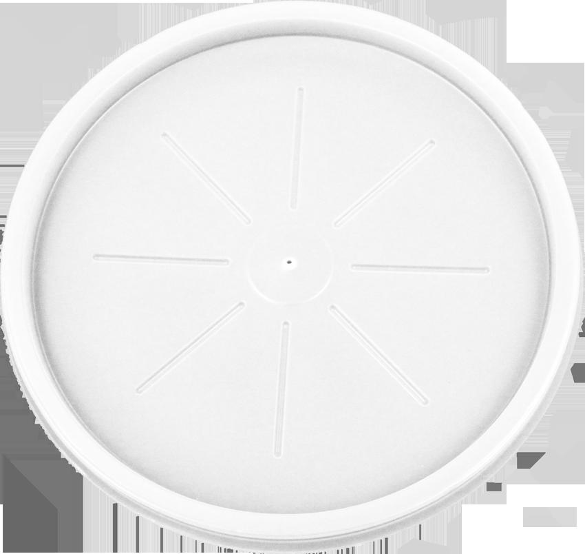 HIPS L-3046 - 12/14 oz Foam Cont & 16oz Foam Bowl Flat Lid Image