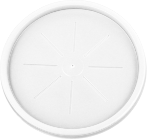 HIPS L-3048-16 oz Foam Cont. Flat Lid Image