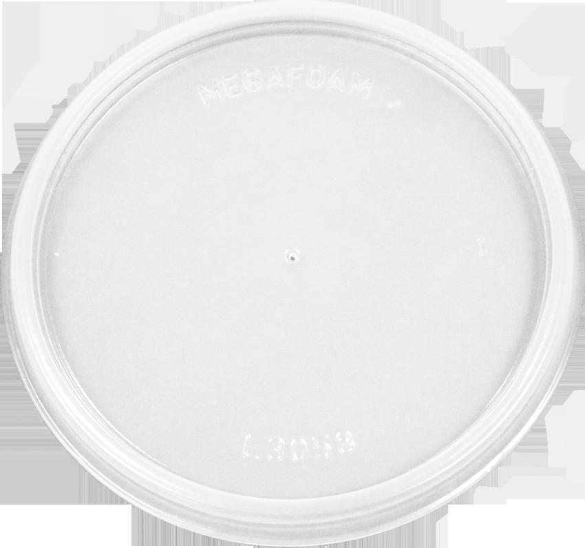 HIPS FL-3058-8oz Foam Cont. Flat Lid Image